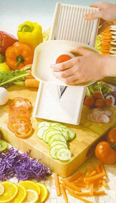 v slicer with food
